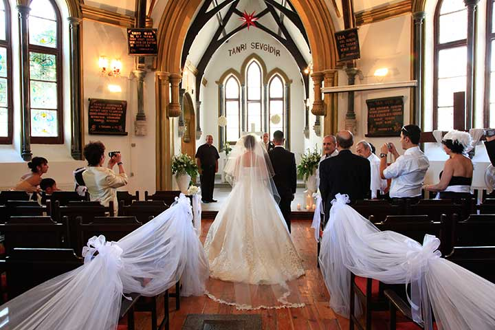 Church Wedding Ceremony in Istanbul