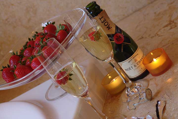Champagne at Honeymoon Hotel