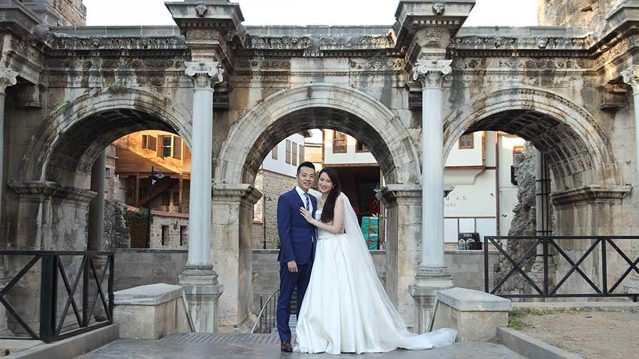 Antalya Wedding Hadrian Gate