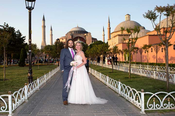 Istanbul Wedding Hagia Sophia Photo