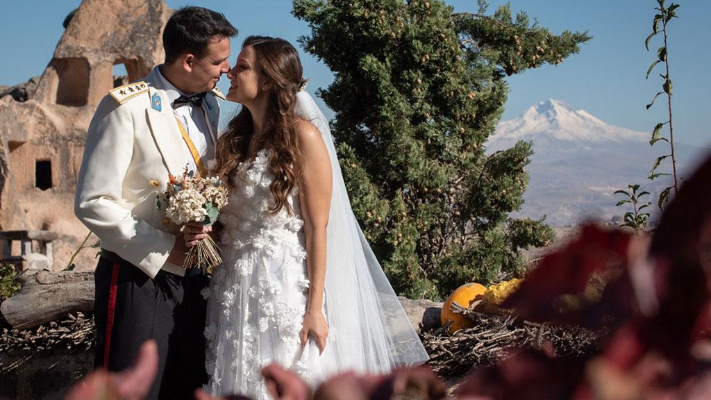 Cappadocia Wedding Uchisar Erciyes View