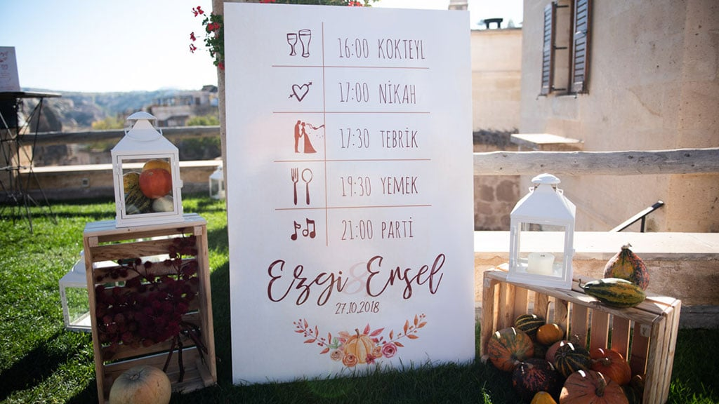 Wedding Program Cappadocia
