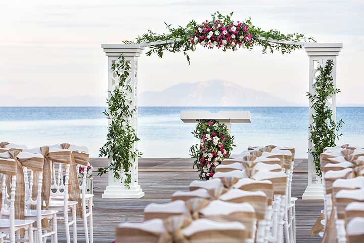 Bodrum Wedding Setup